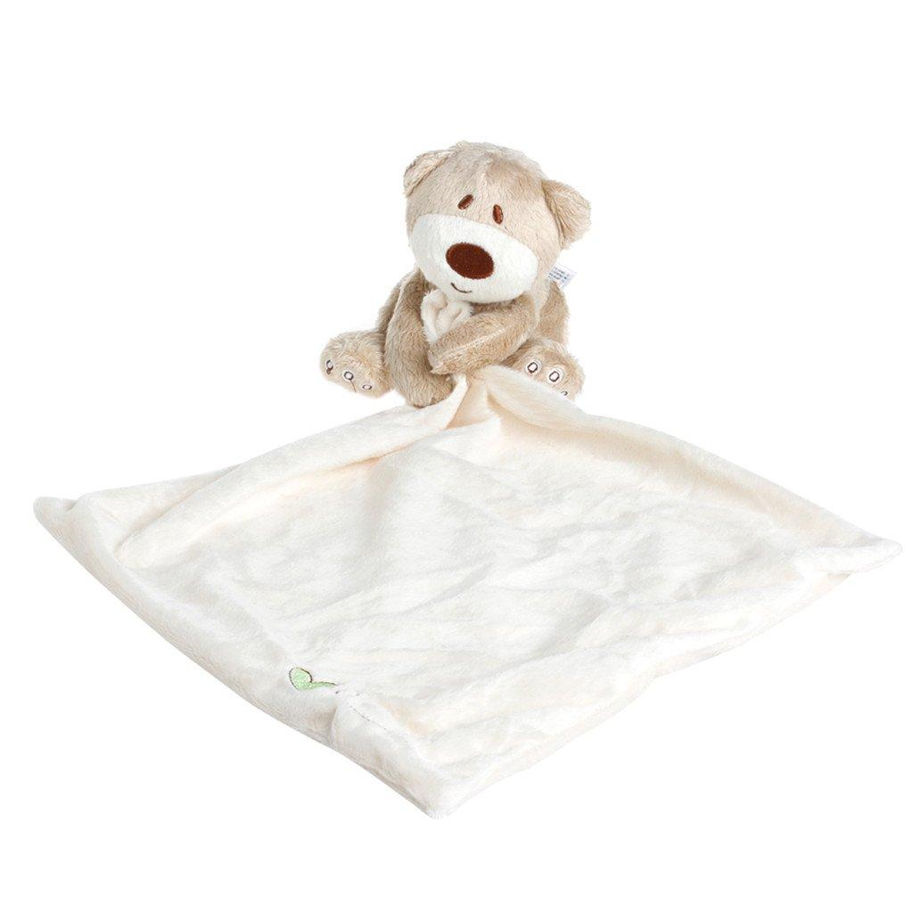 Tandou - Manta de peluche para bebé , diseñ o de oso de peluche, suave y liso beige beige diseño de oso de peluche