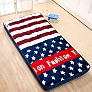 Thicken Tatami Futon Floor mat, Breathable Sleeping Japanese Roll up Mattress Topper Cover Protector for Kids Students Dorm Home-A 80x190cm(31x75inch)