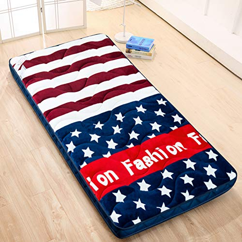 Thicken Tatami Futon Floor Mat Breathable Sleeping Japanese Roll Up Mattress Topper Cover Protector For Kids Students Dorm Home A 80x190cm 31x75inch