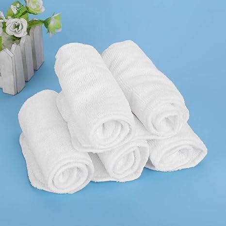 5 piezas de pañal Pañales de algodón transpirables para bebés con pañal suave y transpirable de fibra de bambú para niños pequeños para bebé infantil: Amazon.es: Bebé