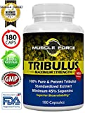 #1 Rated Muscle Force Tribulus Terrestris   180 Capsules   1500mg of Bulgarian Tribulus   45% Saponins   NEW BIOAVAILABILITY FACTOR   3 MTH SUPPLY   Ships Free