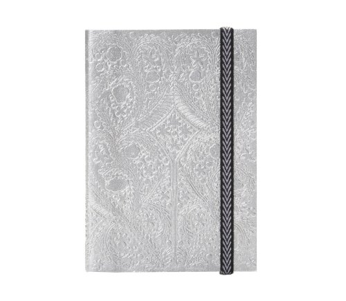 christian-lacroix-paseo-embossed-silver-lay-flat-notebook-with-elastic-4-by-6-inches-152-ruled-ivory