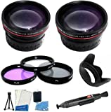 58mm All In Lens Kit FDigital Camera Includes HD .43x Wide Angle Lens + 2.2x Telephoto Lens + Multi-Coated 3 Piece Filter Kit (UV, CPL, FLD) + Lens Hood + Lens Cap Keeper + Mini Tripod + LCD Screen Protectors + Camera Cleaning Kit For Fuji FujiFilm FinePix HS20 EXR, HS30EXR, HS30 EXR, HS25EXR, HS25 EXR Digital Camera