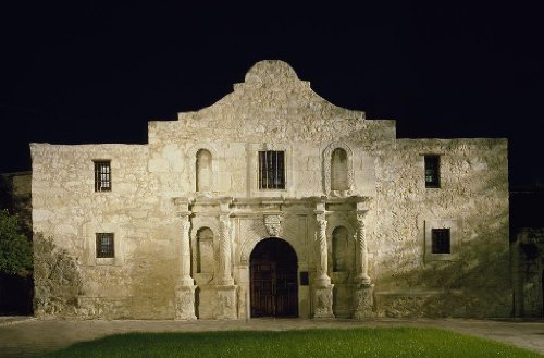 Photography Poster – Night at Alamo San Antonio Texas 24 X 16