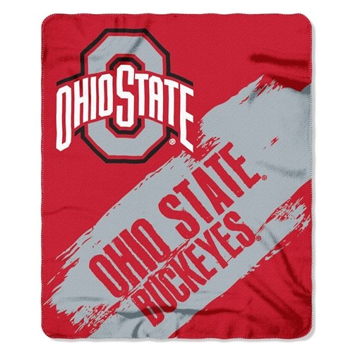 (Ohio State Buckeyes 50x60 Fleece Blanket - College Painted Design)