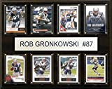 C&I Collectables NFL New England Patriots Rob Gronkowski 8-Card Plaque, 12 x 15-Inch, Brown