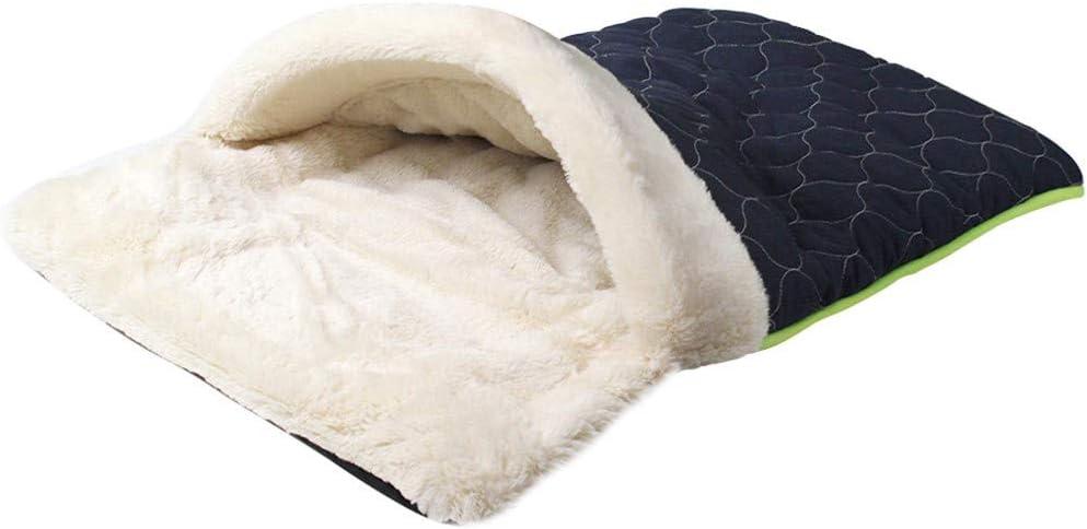 Lomsarsh Cama para Mascotas Sueño Profundo Nido para Mascotas Perro Gato Saco de Dormir cálido para Invierno Cama Suave para Mascotas Saco de Dormir Relajante Cama