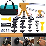 ARISD PDR Paintless Dent Repair Kits - Adjustable Gold Dent Lifter Puller Tool,Pops a Dent Puller Kit for Car Door Dings and Hail Damage Repair