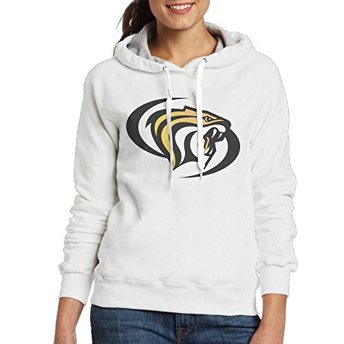Bro-Custom University Of The Pacific Tiger Sweater For Women's Size S White