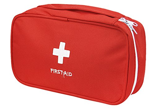 Portable First Aid Empty Kit Pouch Tote Small First Responder Storage Bag Compact Emergency Survival Bag Medicine Bag for Home Office Travel Camping Sport Backpacking Hiking Cycling Gym Car Outdoor