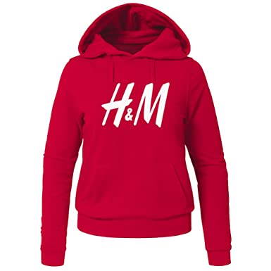 f93297dd8e8b H&M Printed for Ladies Womens Hoodies Sweatshirts Pullover Outlet:  Amazon.co.uk: Clothing