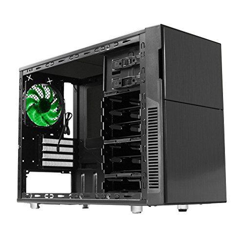 Nanoxia Deep Silence 4 Mini Tower Case with 6 Fan Controller, Fits Micro-ATX Motherboard Large Liquid Coolers, 20.1 Pounds (Motherboard Liquid Cooling compare prices)