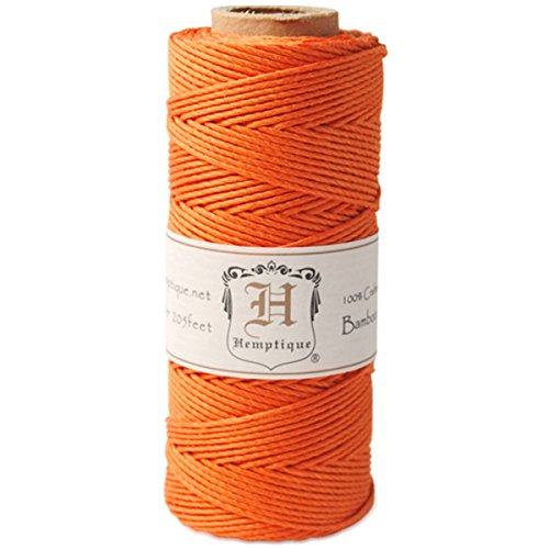 - Hemptique Bamboo Cord Spool 20lb 205'-Neon Orange