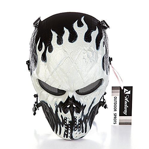 Andway¨ Skull Skeleton Full Face Protective Mask Gear For Airsoft/BB Gun/ CS Game and Party