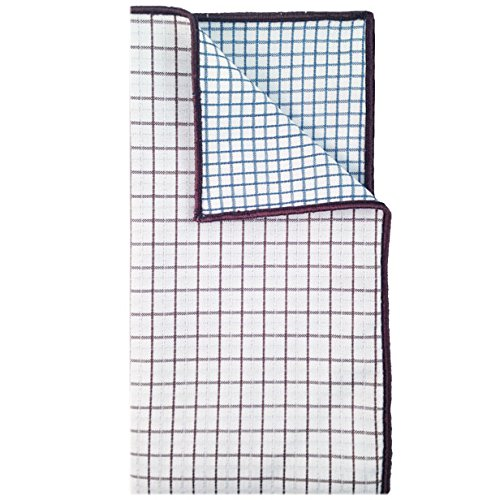 White, Brown and Blue Plaid Reverse Pocket Square Mens Pocket Square The Detailed Male by The Detailed Male (Image #3)