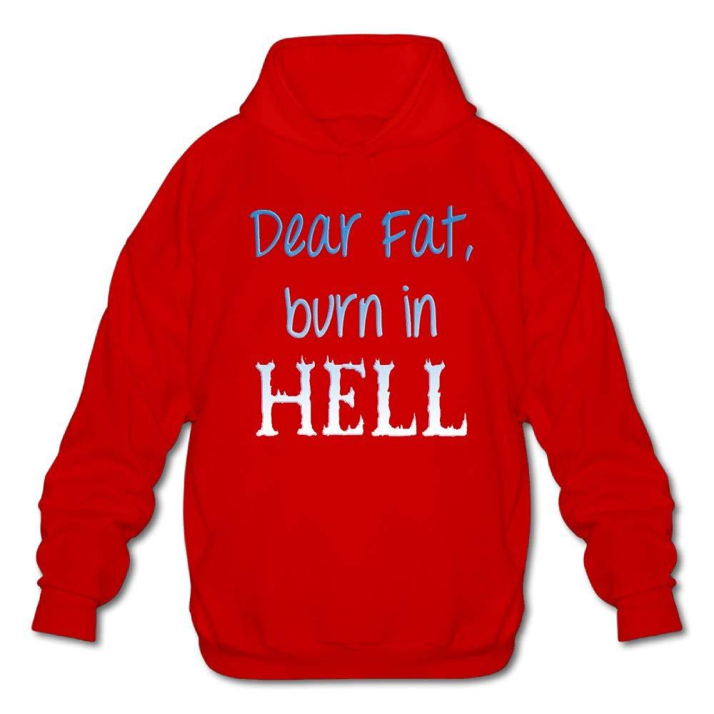 Sweatshirt Gongchaoqun Mens Long Sleeve Cotton Hoodie Dear Fat Burn in Hell
