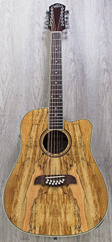 Oscar Schmidt OD312CE 12-String Acoustic-Electric Guitar Spalted Maple