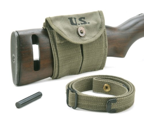 World War Supply M1 Carbine Sling Oiler & Buttstock Type Pouch OD Green Marked JT&L 1944