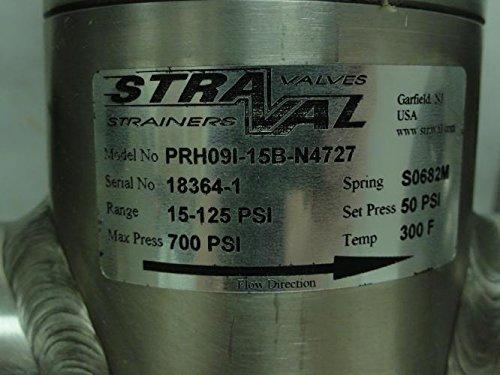 Straval PRH09I-15B-N4727 Sanitary Pressure Valve 2'', 15-125Psi