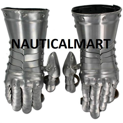 Medieval Knight Gauntlets Functional Steel Armor Gloves By NauticalMart by NAUTICALMART