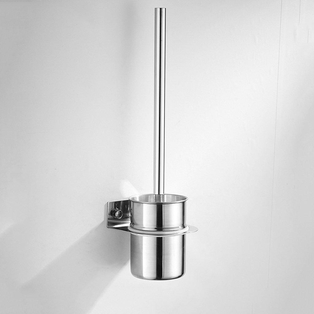 ZGP Toilet accessories Bathroom Toilet Brush Stainless Steel Toilet Brush Wall-mounted Cleaning Brush Shelf