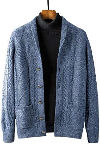 SemiAugust(セミオーガスト)カーディガン メンズ セーター ニット カジュアル 暖かい ジャケット Vネック ビジネス 無地 綿 カーデ ストリート 春秋冬 アウター