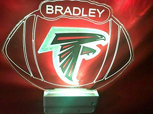Atlanta Falcons NFL Football Night Light Multi Color Personalized LED Plug-in, Ultra-Slim -