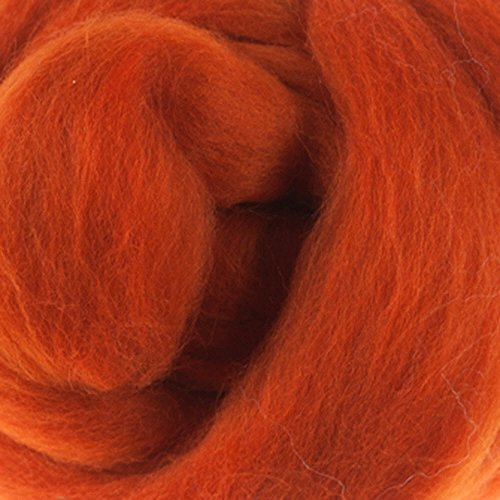 Extra Fine Merino One Ounce Roving Assorted Yellow, Orange, and Red Colors for Felting (pumpkin)