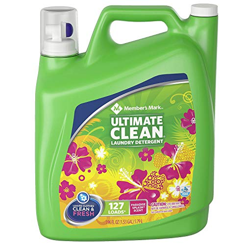 Member's Mark Ultimate Clean Laundry Detergent, Paradise Splash, 127 loads