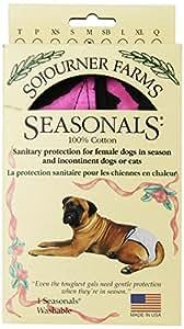 Seasonals Washable Dog Diaper, Fits Medium Dogs, Tiger