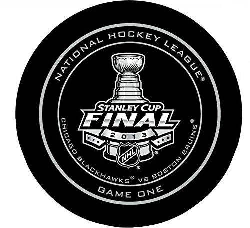 NHL Licensed Official Game Puck from the 2013 Stanley Cup Finals, Game 1: Chicago Blackhawks vs. Boston Bruins