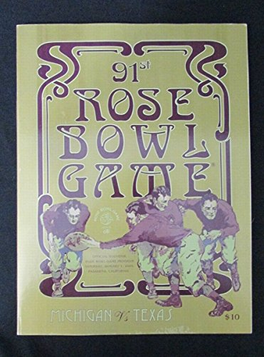 2005 Rose Bowl Official Program Michigan Wolverines vs Texas Longhorns 127485