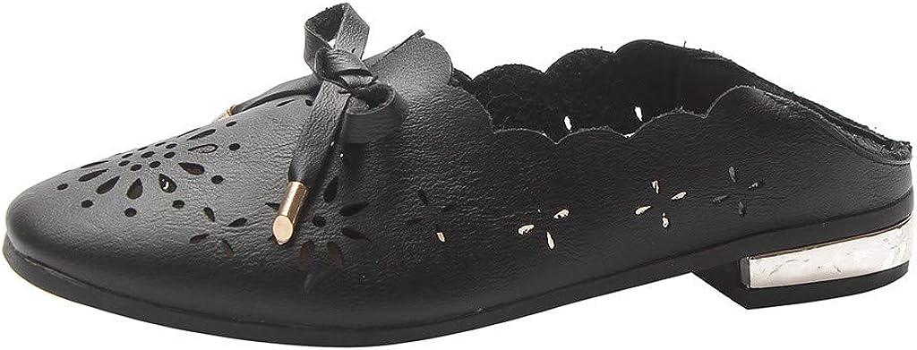 Longra Lady Leather Flats Zapatillas Primavera Oto/ño Recortes /únicos Casual Boca Baja Zapatos Huecos