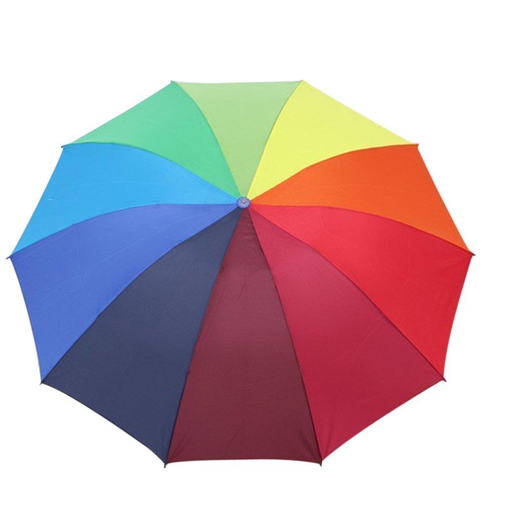 Sky Fish Umbrella Rainbow Umbrella Folding Umbrella Travel Umbrellas Sunscreen Umbrella Colorful and easy to carry