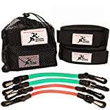 Speed Bands Leg Training Resistance band set for Running Power Agility Acceleration Muscle Endurance and Strength, Used by Antonio Brown, Yohan Blake – For Football, Track and Field and all Sports