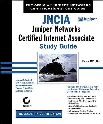 Téléchargements PDF ebook gratuits JNCIA: Juniper Networks Certified Internet Associate Study Guide by Joseph M. Soricelli (2003-02-03) B01JXS3VGE en français PDF DJVU FB2