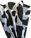 Cow Print Patterned Tissue Paper for Gift Wrapping, 24 Sheets of Decorative Tissue Paper 20x30