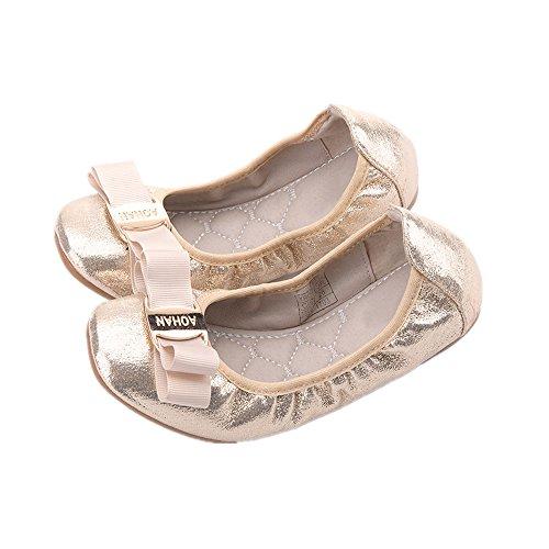 Kardashian Kim Ideas Costume (PRETTYHOMEL Party Shoes Girl's Shoes Toddler Little Girls Glitter Mary Jane Ballet Flat Shoes Girl Gift Kid Gift(Gold 30/12 M US Little)