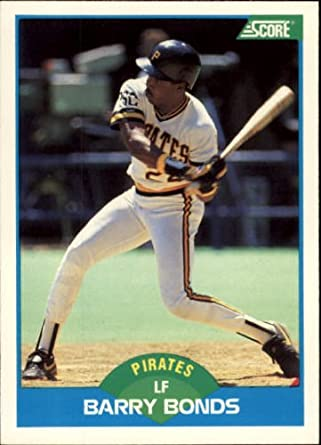 Amazoncom 1989 Score Baseball Card 127 Barry Bonds Collectibles