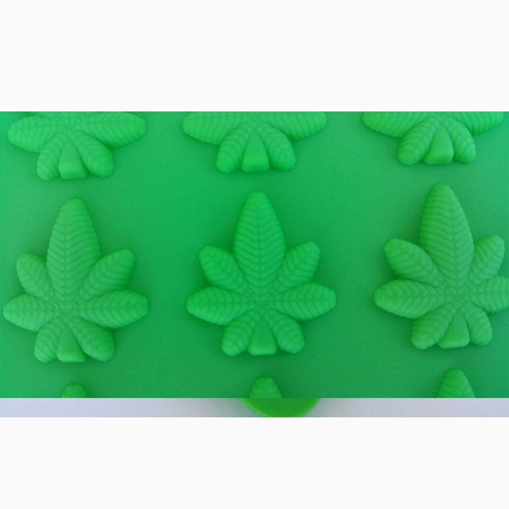 Marijuana Leaf Mold, Edible Gummies, Candy Mold, 54 cavities - Truffly Made by Truffly Made (Image #3)
