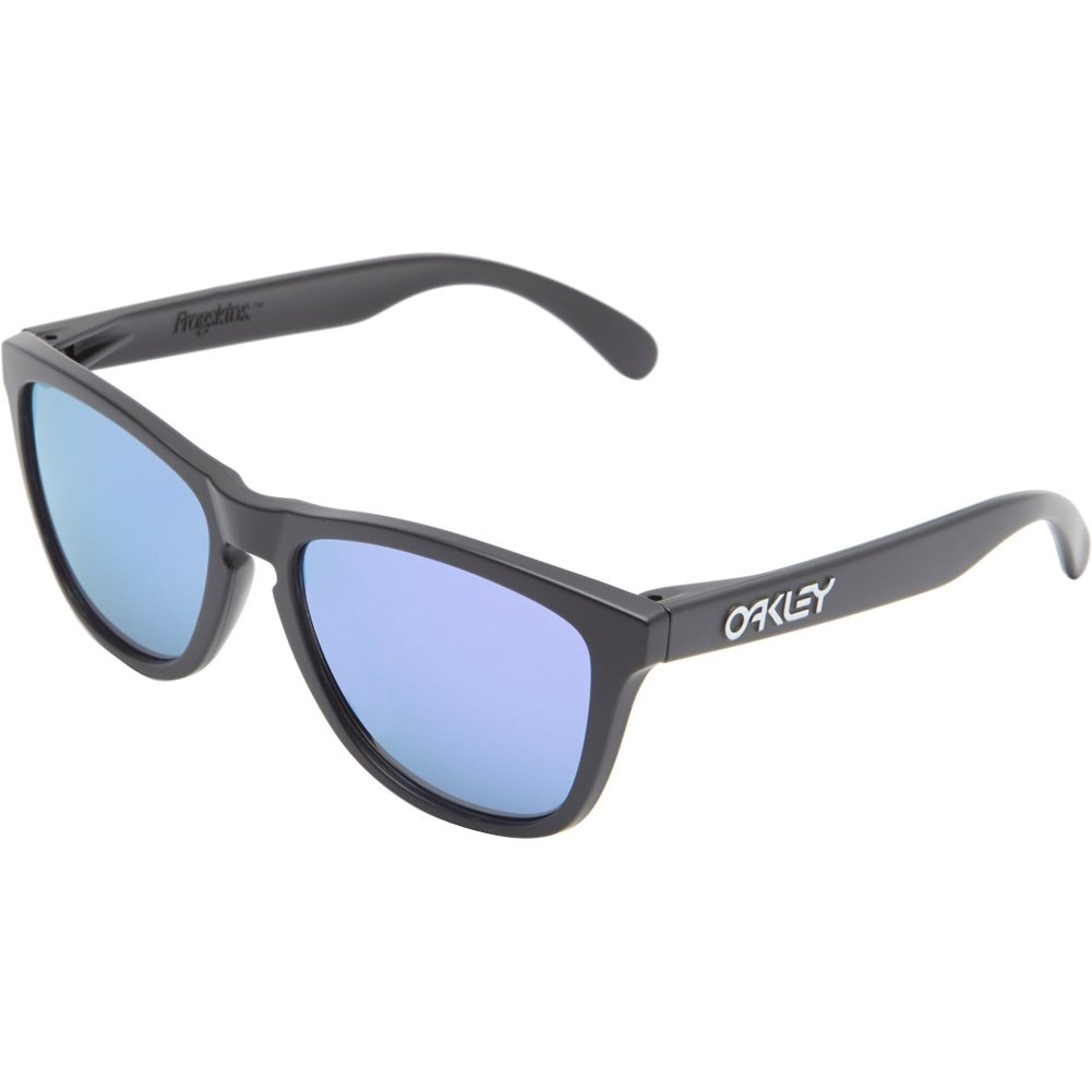 Oakley Men's Frogskins (a) Polarized Iridium Rectangular Sunglasses, Matte Black, 54 mm