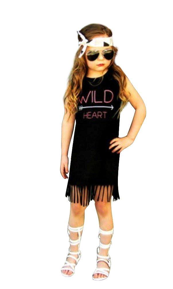 Childs Adorable Wild Heart Fringe Dress