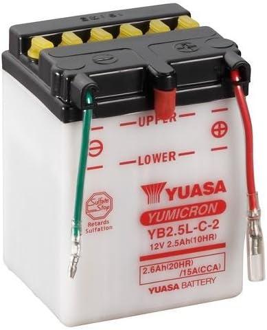 12V//2,5AH Ma/ße: 81x71x106 Batterie YUASA YB2.5L-C-2