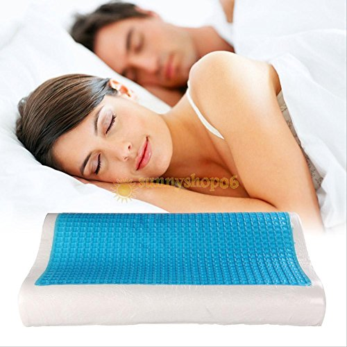 GohEunGyung shop Memory Foam White Bed Pillow Blue Cooling Comfort Gel Orthopedic Sleep - Union Square Target