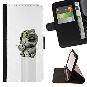 "For Sony Xperia Z5 Compact Z5 Mini (Not for Normal Z5),S-type Bebé extranjero 3D juguete Figuras"" - Dibujo PU billetera de cuero Funda Case Caso de la piel de la bolsa protectora"