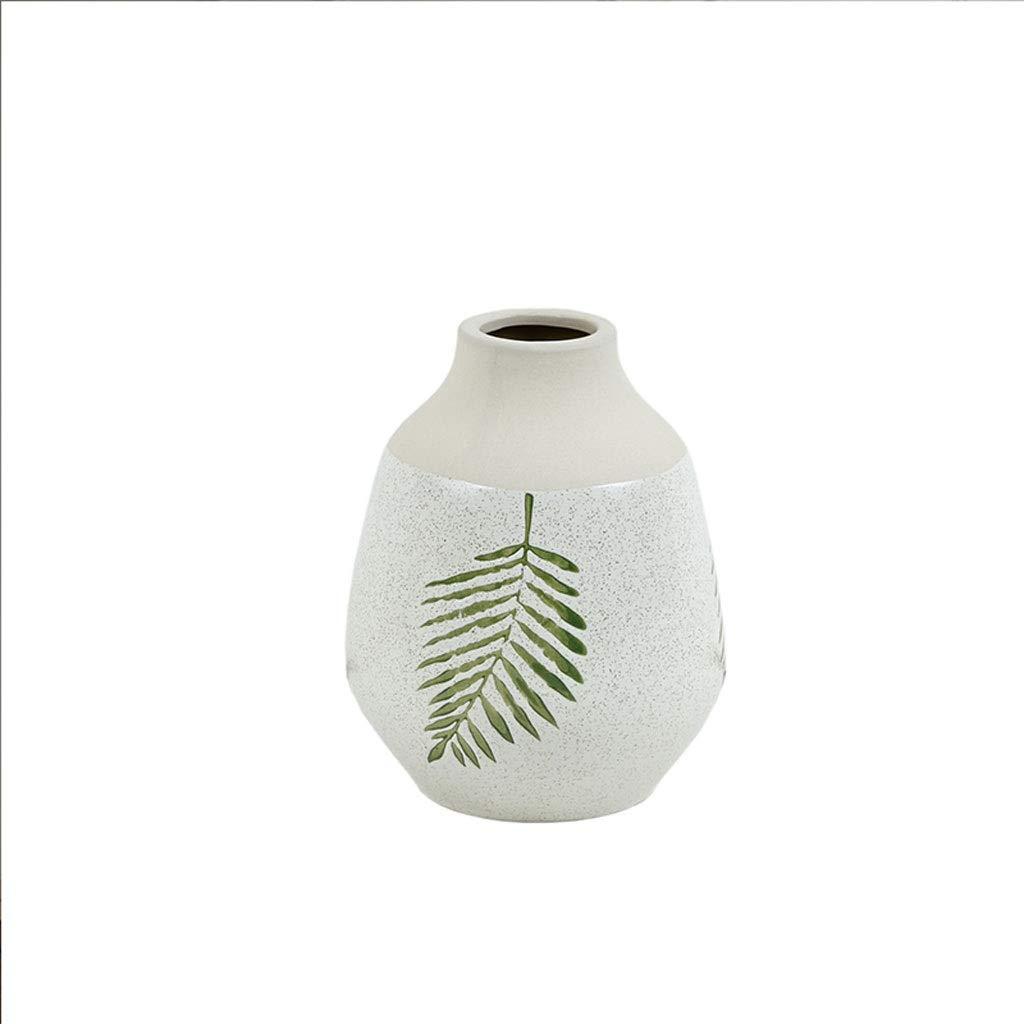 MAHONGQING シンプルな花瓶アメリカの家の装飾セラミックフラワーゲストレストランの装飾 (Size : S) B07RTKQ28X  Small
