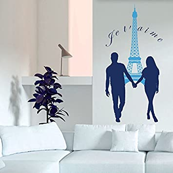 Vinyl Wandtattoo Eiffelturm Paris Je T\'aime France Frankereich ...