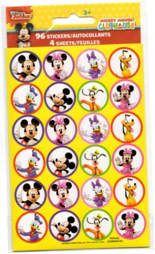 96 Mickey Mouse Clubhouse Stickers (Mickey Mouse, Minnie Mouse, Daisy Duck, Goofy, Pluto & Donald Duck) Reward Stickers