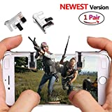 #8: PUBG Mobile Game Controller Sensitive Shoot and Aim Keys L1R1 Trigger Buttons for PUBG/Knives Out/Rules of Survival, Support Both Android and IOS System (1 Pair)