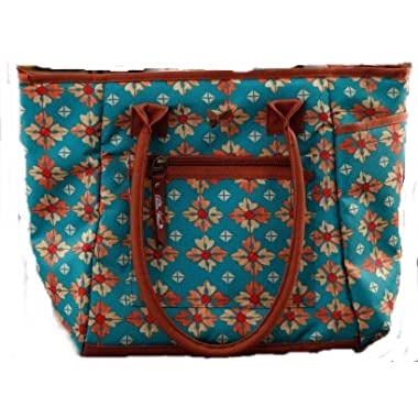 The Pioneer Woman Insulated Lunch Tote Bag with Matching Hydration Water Bottle, Vintage Geo